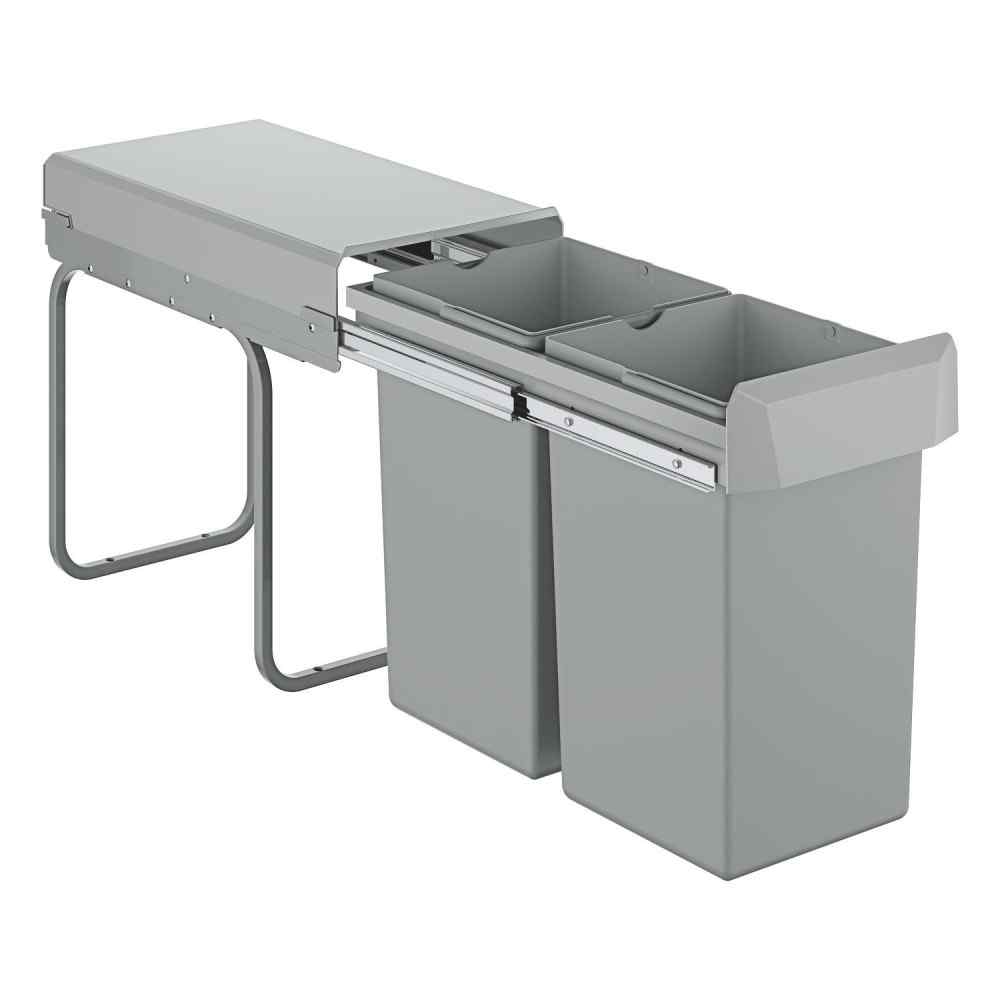 Affaldsspand 30 cm 2x15L Affaldssortering