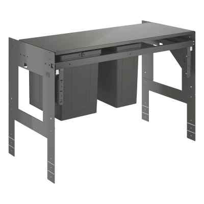 Affaldsspand 90cm, 2x8+11L Affaldssortering